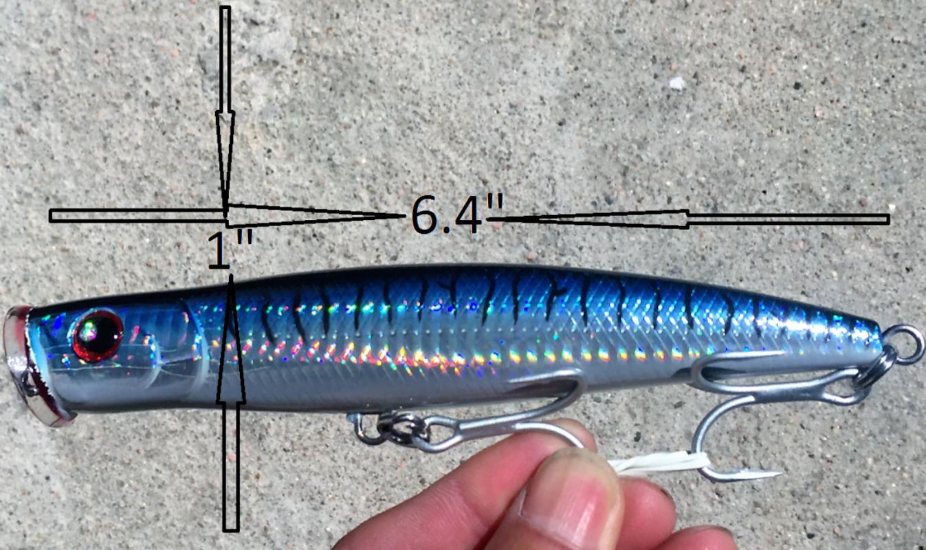 "6.4/"" TROLLING LURE BAIT TACKLE MACKEREL KING FISH TUNA MAHI JACK STRIPED BASS"
